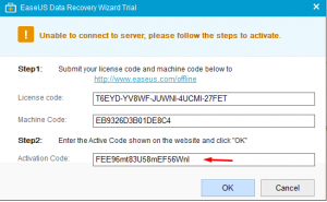 easeus data recovery license code for windows 10