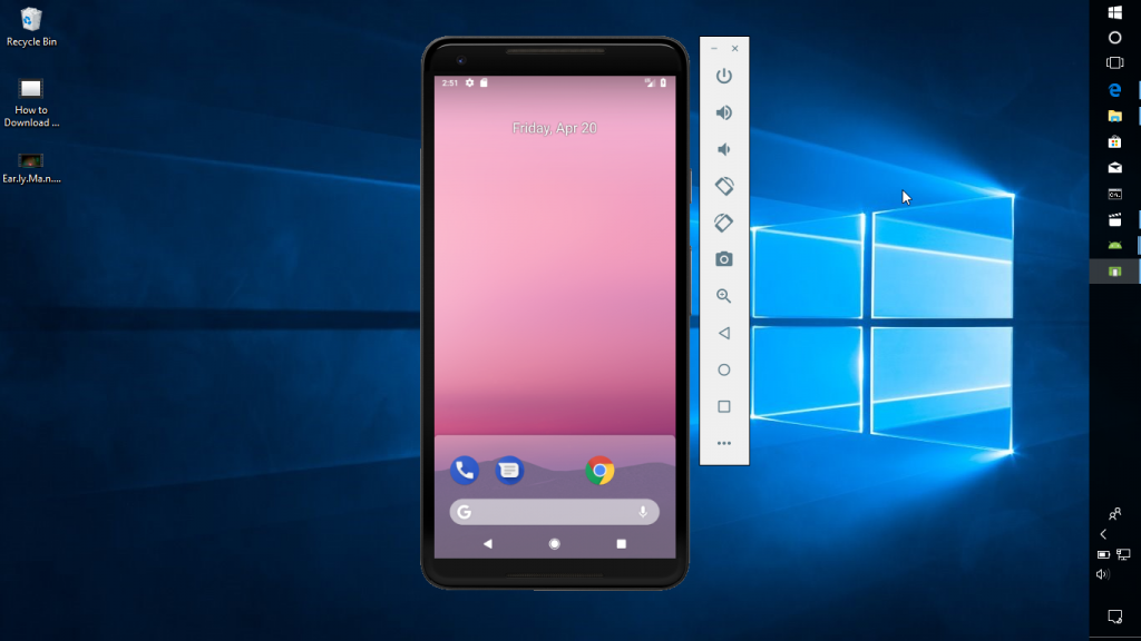 how to run android p on windows 10